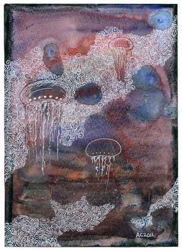 Jellyfish Deeps, art by Amy Crook