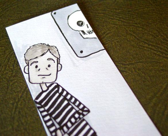 John Watson Bookmark 1, detail, by Amy Crook