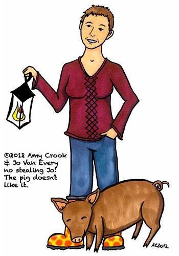 Jo Van Every cartooned by Amy Crook