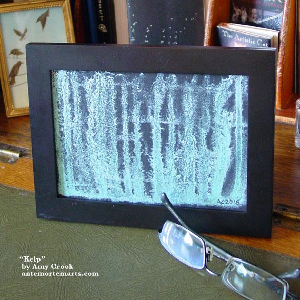 Kelp 2, framed art by Amy Crook