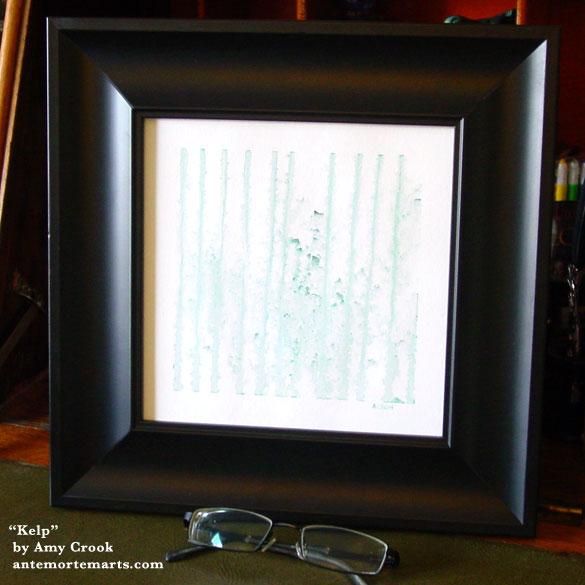 Kelp, framed art by Amy Crook