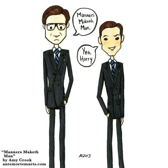 Manners Maketh Man, Kingsman parody art by Amy Crook
