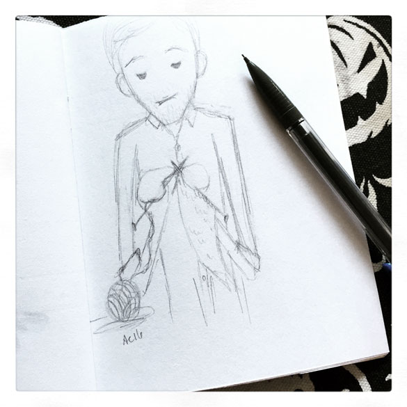 Knitting sketch for CC