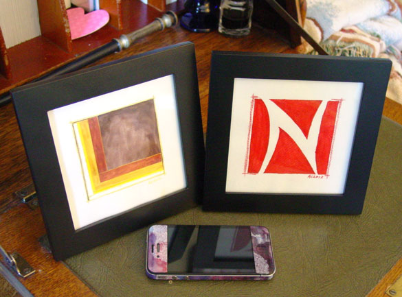 L is for Layers, framed art by Amy Crook