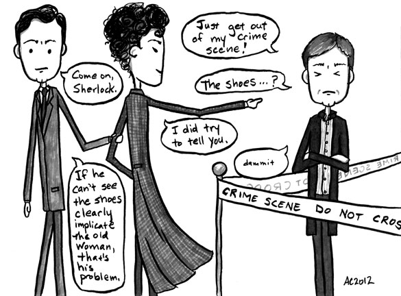 The Brothers Holmes: The Later Years, part 4 of 6, comic by Amy Crook