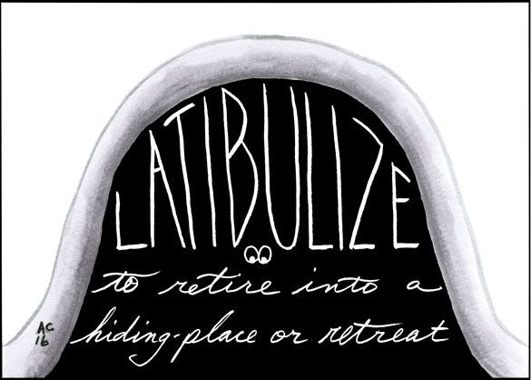 Latibulize, word art by Amy Crook