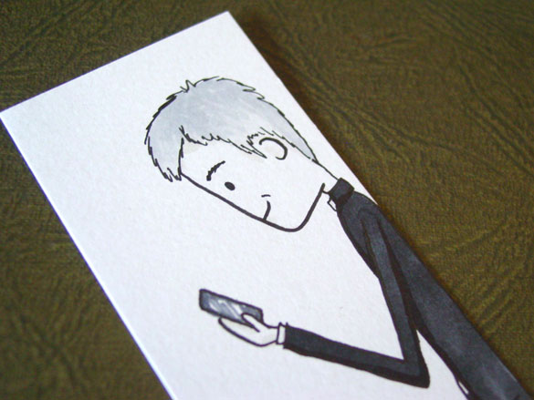 Lestrade Bookmark 1, detail, by Amy Crook