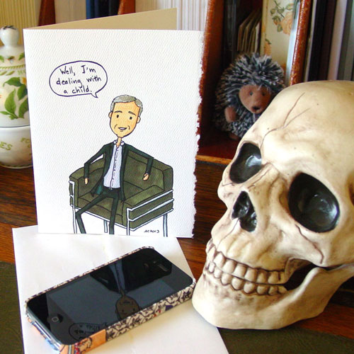 DI Lestrade Father's Day card by Amy Crook at Etsy