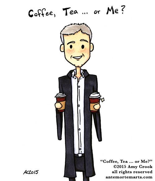 Coffee, Tea... or Me? fan art by Amy Crook