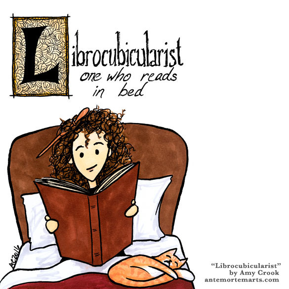 Librocubicularist, word art by Amy Crook