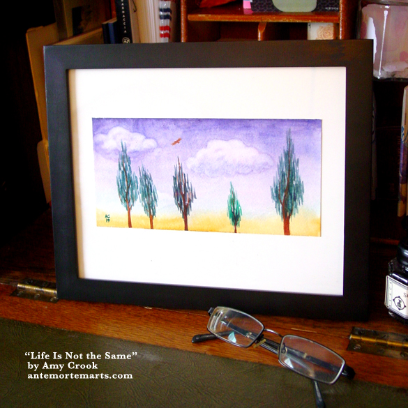 Life Is Not the Same, framed art by Amy Crook