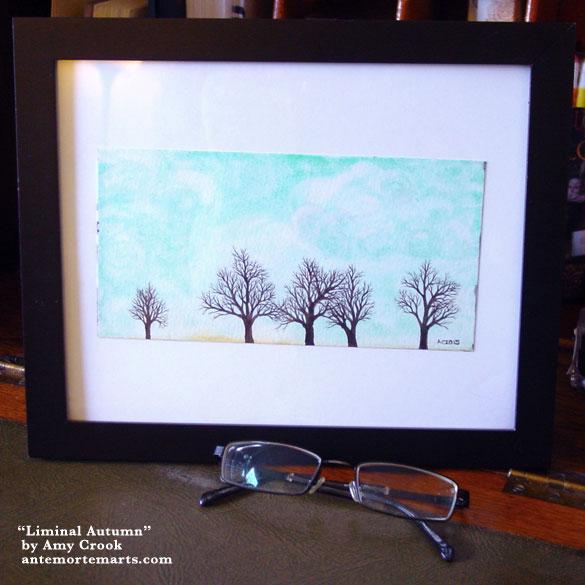 Liminal Autumn, framed art by Amy Crook
