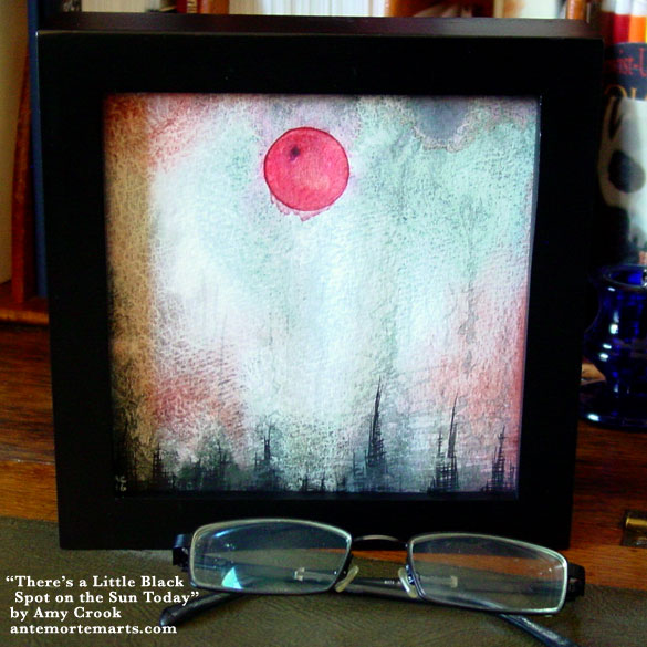 There's a Little Black Spot on the Sun Today, framed art by Amy Crook