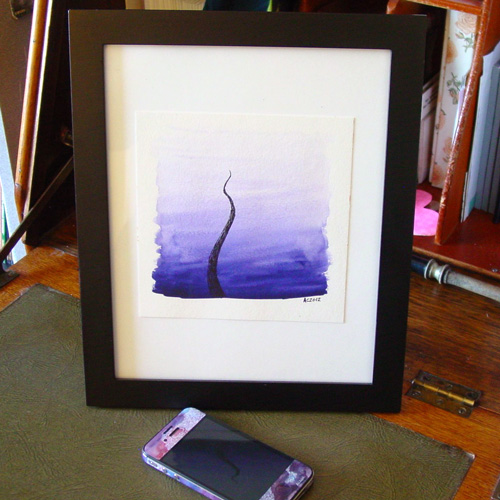 Lone Tentacle, framed, by Amy Crook