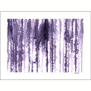 Loom, abstract watercolor by Amy Crook in the Pathways series