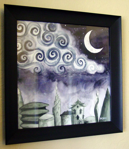 Lost Arcadia, framed art by Amy Crook