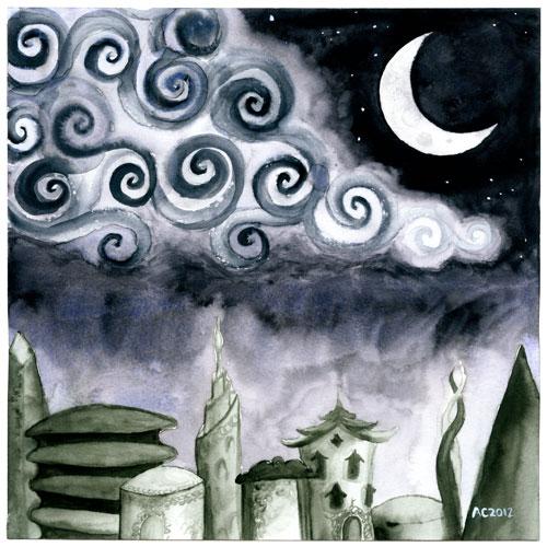Lost Arcadia, watercolor by Amy Crook