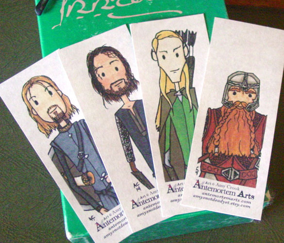 4 Lord of the Rings bookmarks by Amy Crook on Etsy