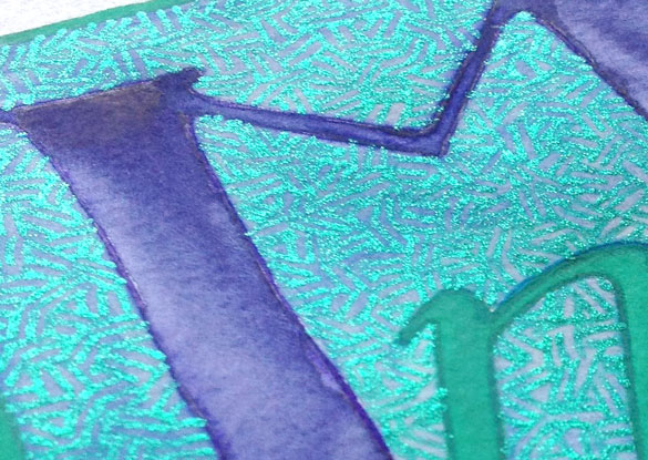 M is for Majuscule & Miniscule, detail, by Amy Crook