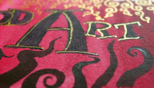 Make Good Art, detail 2, by Amy Crook