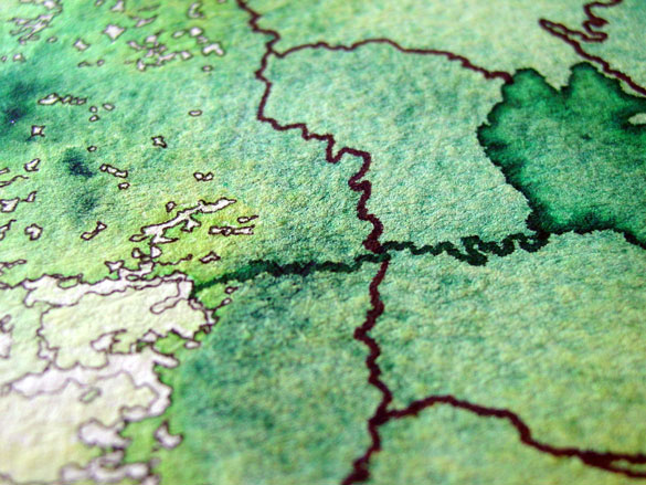 Map to an Undiscovered Country, detail, by Amy Crook
