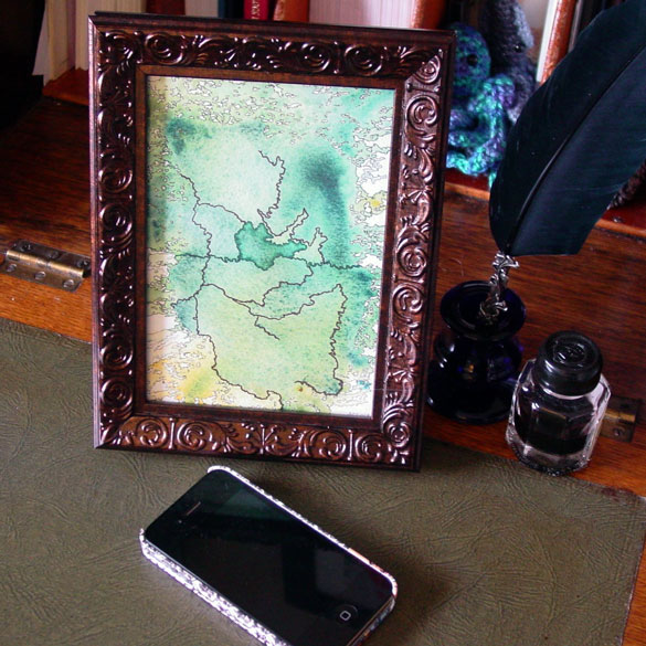 Map to an Undiscovered Country, framed art by Amy Crook