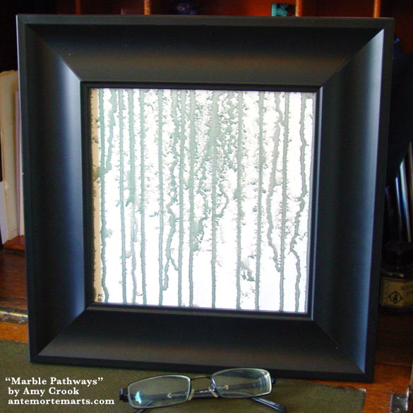 Marble Pathways, framed art by Amy Crook