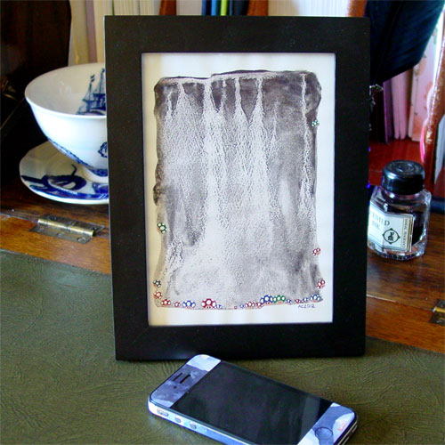 Mario's Cave, framed art by Amy Crook