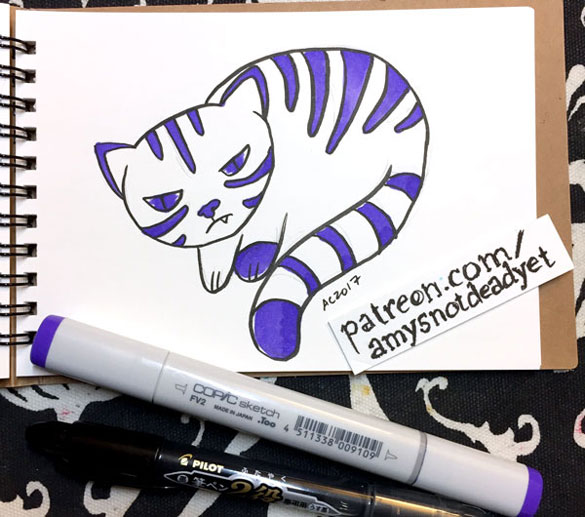 cat sketch by Amy Crook