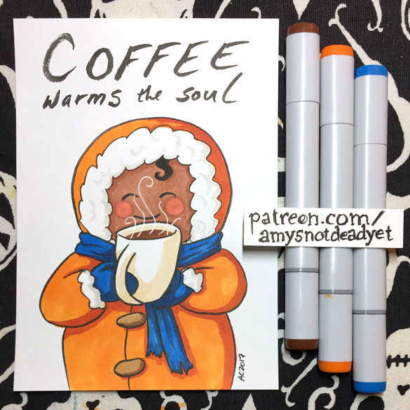 Coffee Warms the Soul by Amy Crook for Jefferson