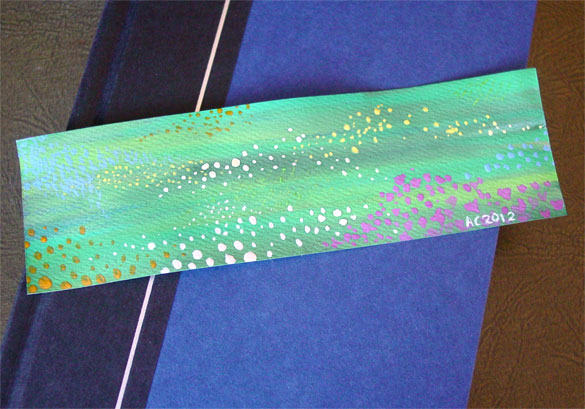Meadow Bookmark, with book, by Amy Crook