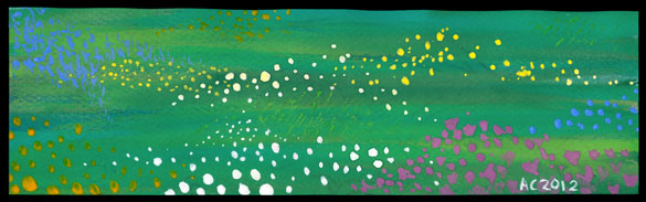 Meadow Bookmark by Amy Crook