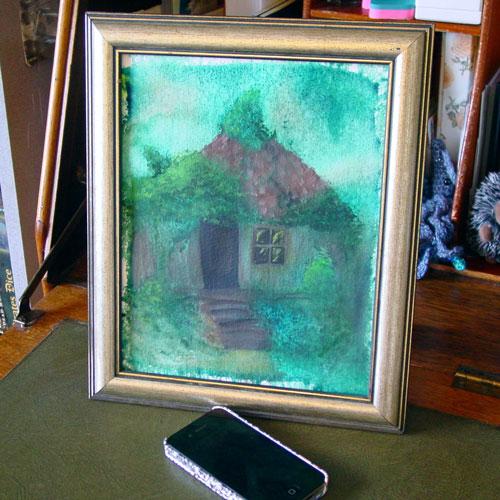 Mercy House, framed art by Amy Crook
