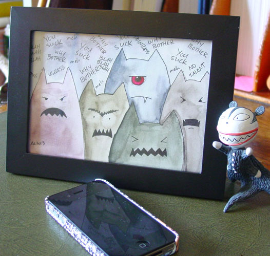 Miasma of Monsters, framed art by Amy Crook