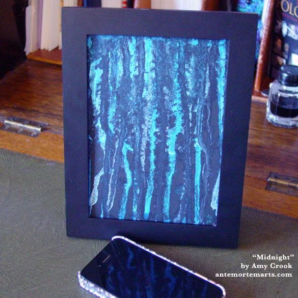 Midnight, framed art by Amy Crook