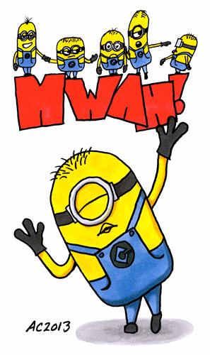 Minion MWAH! fan art comic by Amy Crook