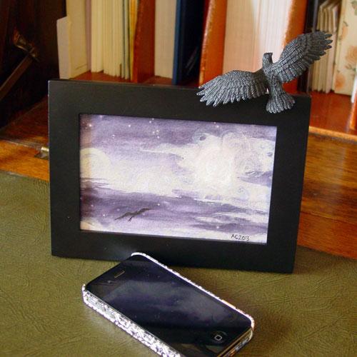 Misty Moon 2, framed art by Amy Crook