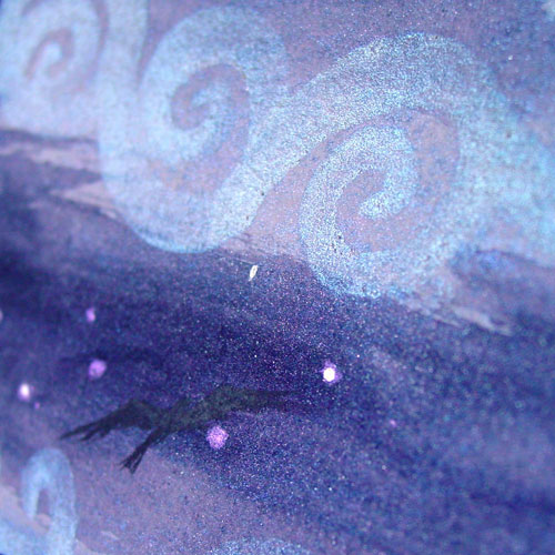 Misty Moon 2, detail, by Amy Crook