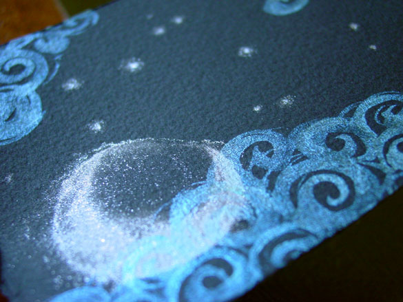 Misty Moon, detail 1, by Amy Crook