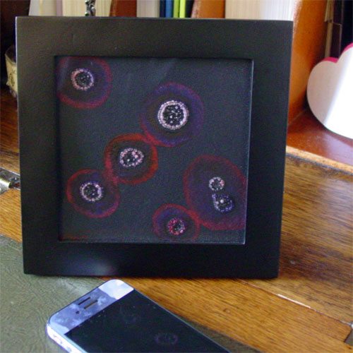 Mood Ring, framed art by Amy Crook