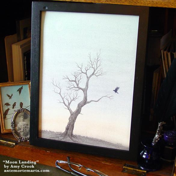 Moon Landing, framed art by Amy Crook