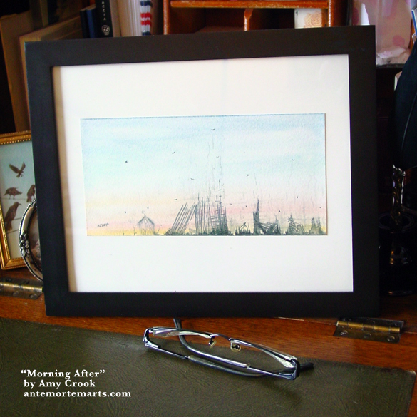 Morning After, framed art by Amy Crook