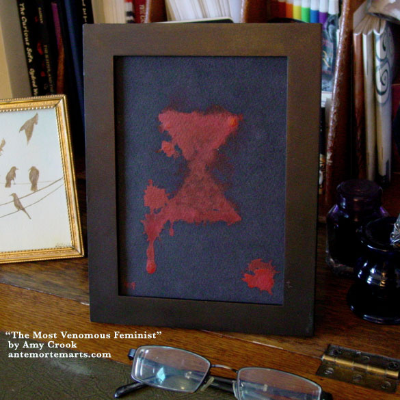 The Most Venomous Feminist, framed art by Amy Crook
