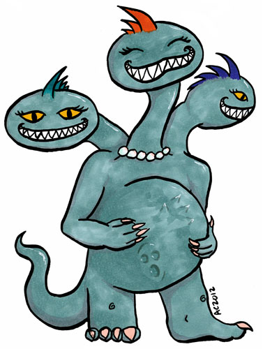Mother Hydra cartoon by Amy Crook