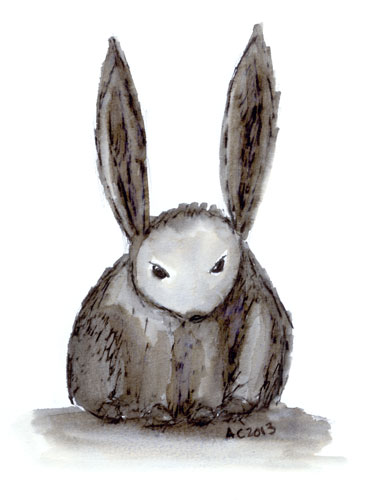 This is a Motherfucking Bunny drawn by Amy Crook