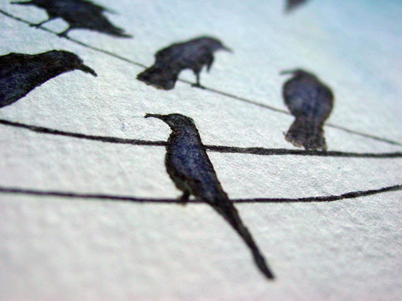A Murder of Crows 2, detail, by Amy Crook