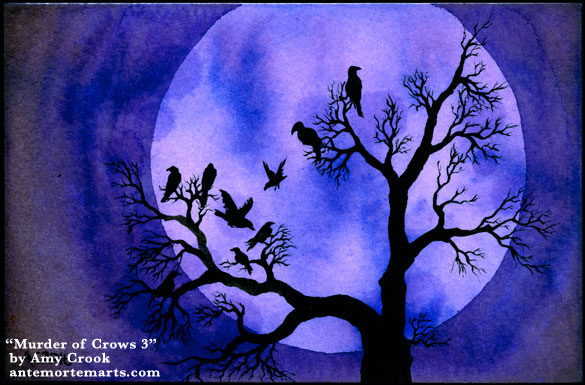 A Murder of Crows 3, art by Amy Crook