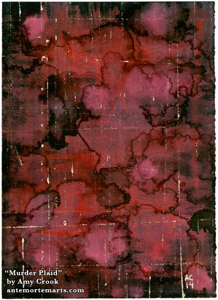 Murder Plaid, abstract art by Amy Crook