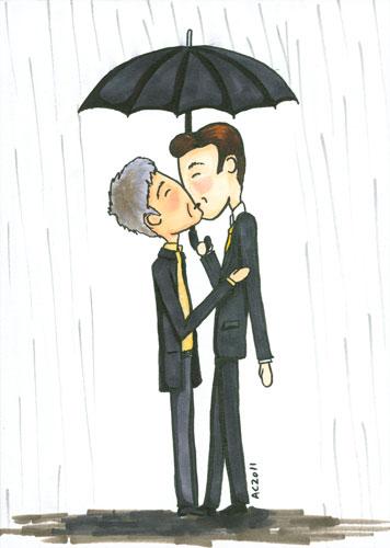 Like Mycroft Loves His Umbrella, cartoon by Amy Crook