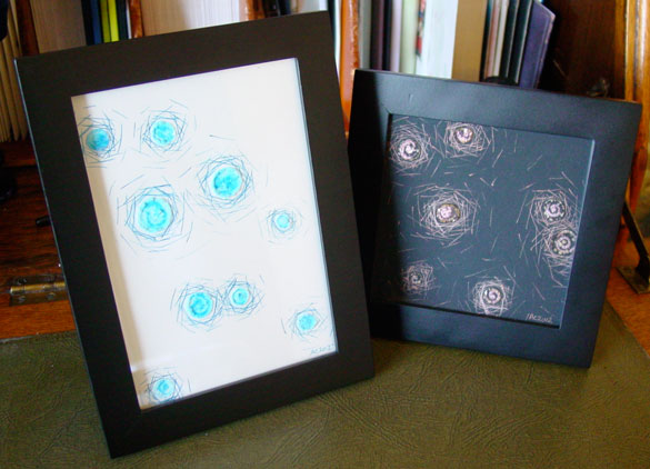 Negative Space and Positive Space, framed art by Amy Crook
